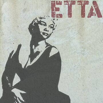 Graffiti art: Etta James by halibutgoatramb