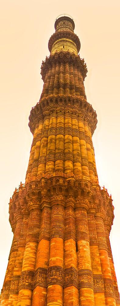 North India - Qutab Minar - New Delhi 3 by Geoffrey Thomas