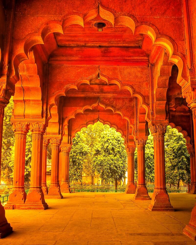 North India - Red Fort - New Delhi 1 by Geoffrey Thomas