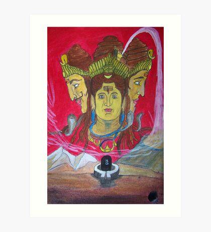 Lord Shiva..!! Art Print
