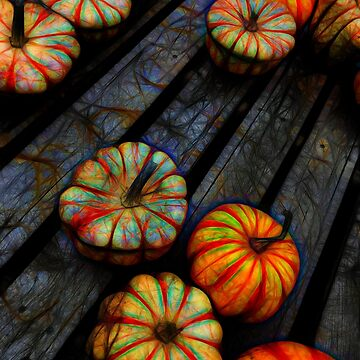 Colorful Fall Gourds by bloomingvine