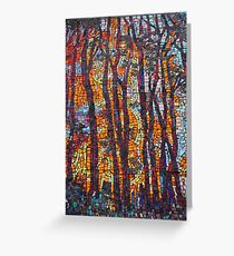 Mosaic of Fire Greeting Card