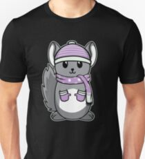 Animal Kid Chinchilla Christmas Winter Gift Unisex T-Shirt