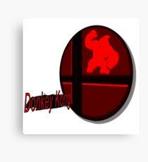 Smash Bros. Donkey Kong Tag Canvas Print