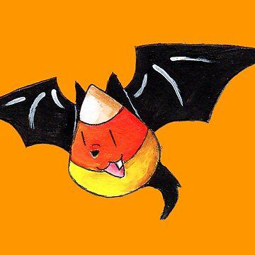 Candy Corn Bat by KOKeefeArt