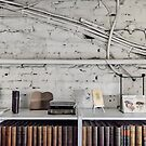 Arkadia bookshop wall wires by AntSmith