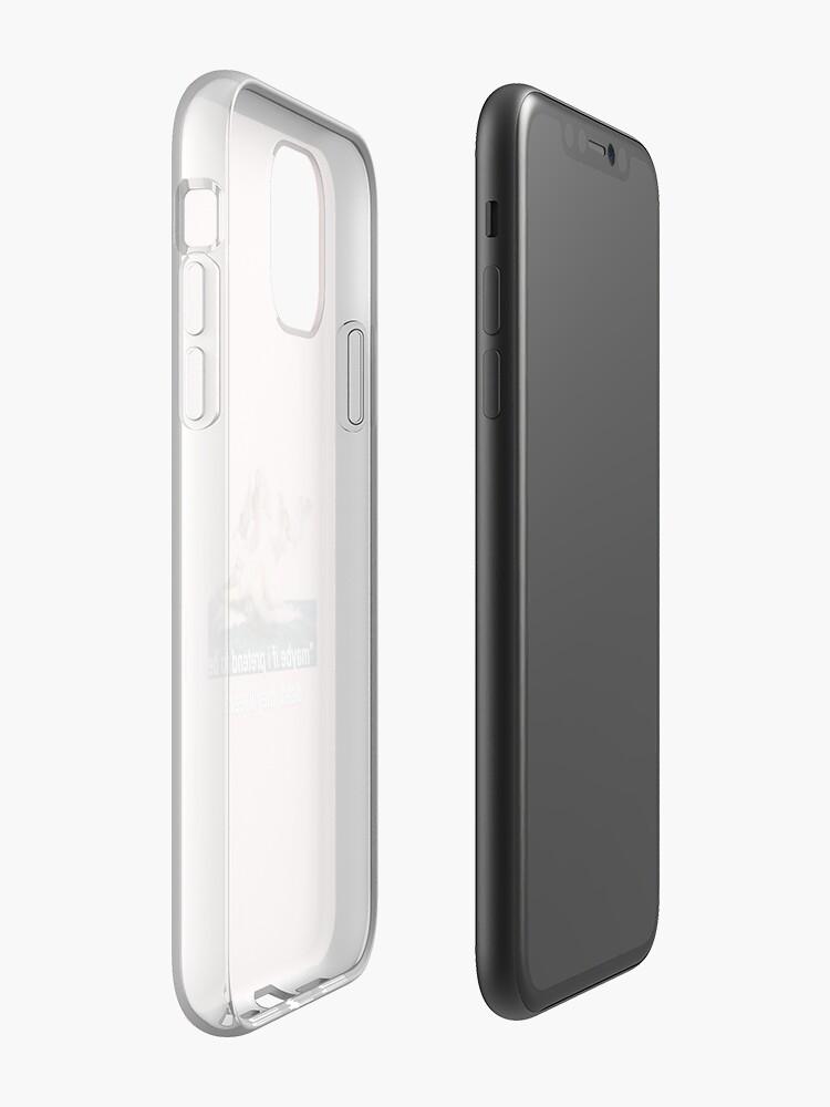 Coque iPhone «peut-être que si je fais semblant d'être mort, ils partiront.», par AngelicSouls