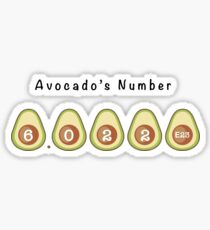 Avocado's Number - Funny  Sticker