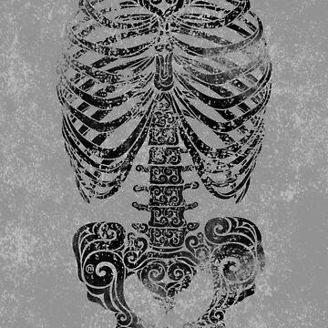 Swirly Bones by CarolinaMatthes