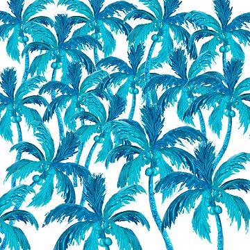 Coconut Palm Tree Jungle by MatsonArtDesign