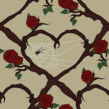 Woodland Heart and spider web by GoodbyeDolly