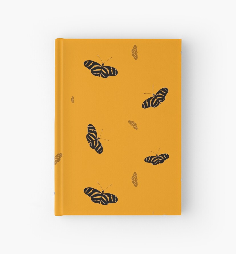 Marigold butterflies print by chihuahuashower