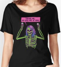 My Eyes Are Up Here Women's Relaxed Fit T-Shirt