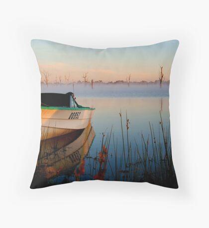 Sun-up on Lake Fyans Throw Pillow