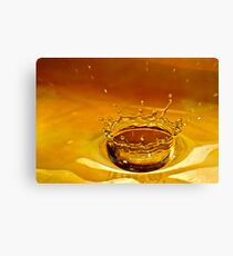 Water Crown Canvas Print