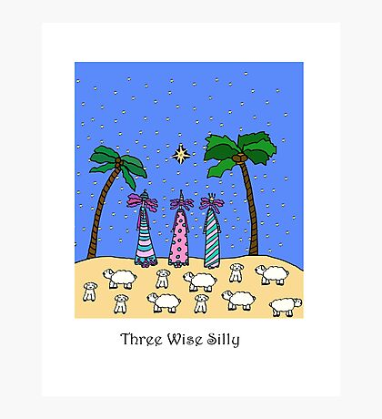 Three Wise Silly Photographic Print