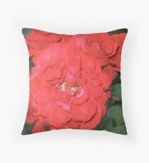 Red Nosegay  Throw Pillow