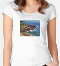 Keyhole Arch En Plein Air Women's Fitted Scoop T-Shirt