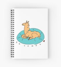 The Comfy Llama Spiral Notebook