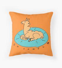 The Comfy Llama Throw Pillow