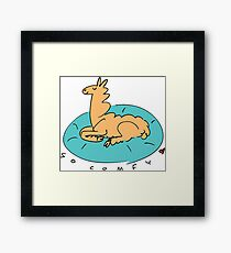 The Comfy Llama Framed Print