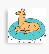 The Comfy Llama Canvas Print