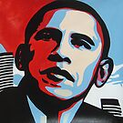 POP art for Obama Portrait, Acylics on Canvas, Framed art , oil painting by diasha