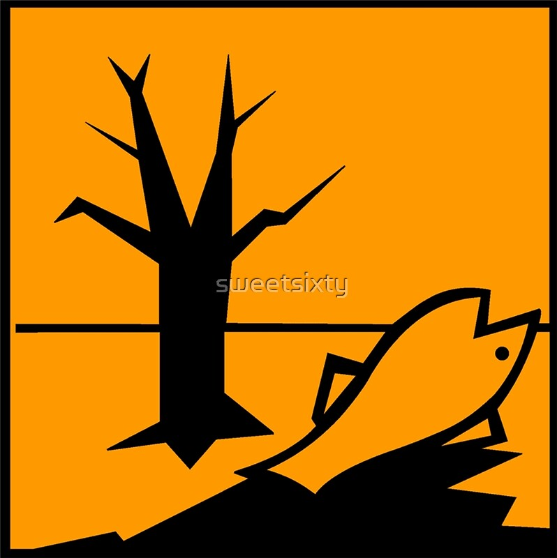 Dangerous For The Environment Hazard Symbol Canvas Prints By