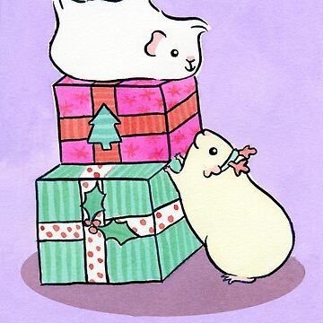 Guinea pig friends love Christmas by zoel