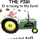 The Pig ! It is racing to the farm! by Sunil Bhardwaj