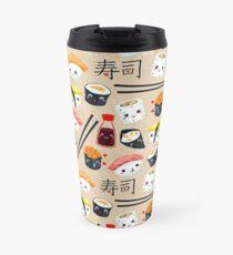 Taza de viaje Kawaii Sushi