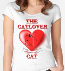 The Catlover behind the Cat Women's Fitted Scoop T-Shirt