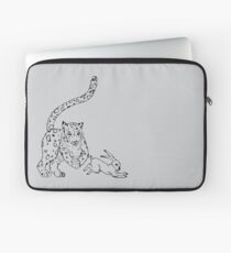 The Chase - Snow Leopard Sketch Laptop Sleeve