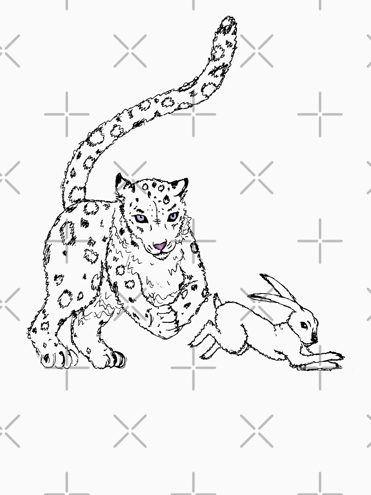 The Chase - Snow Leopard Sketch by LittleMissTyne
