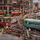 City - DC - Road closed for repairs 1941 by Michael Savad