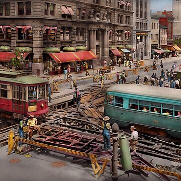 City - DC - Road closed for repairs 1941 by mikesavad