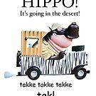 HIPPO! It's going in the desert! by Sunil Bhardwaj