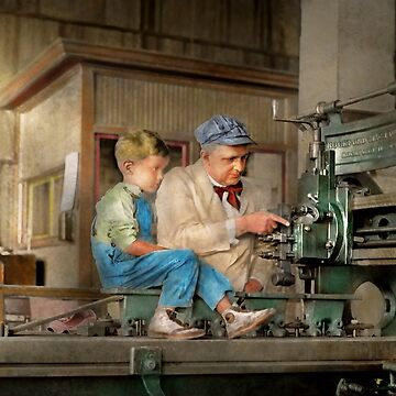 Machinist - Spending time with grandpa 1921 by mikesavad