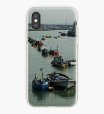 Boats in a line at Shoreham -By-Sea iPhone Case
