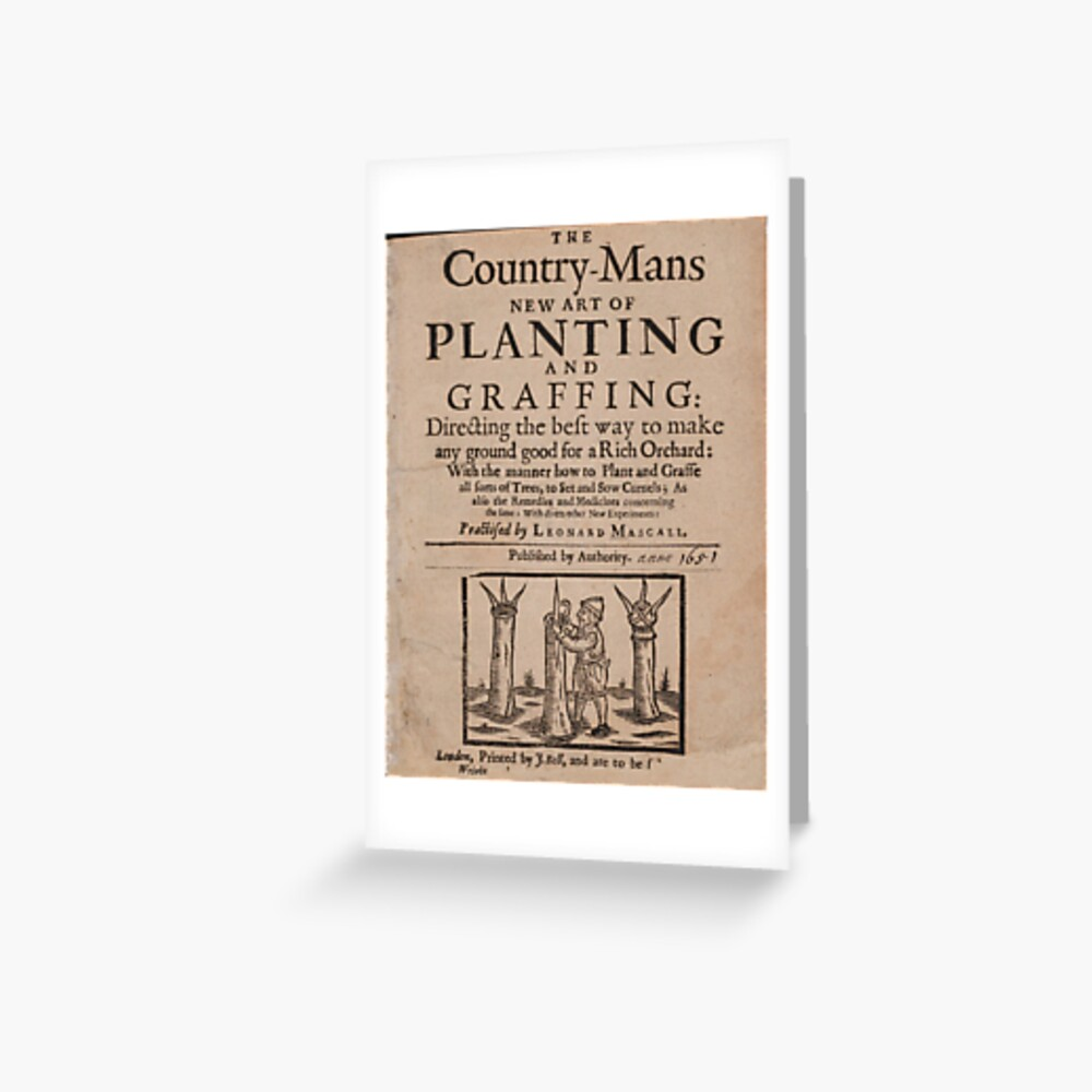 The country-mans new art of planting and graffing (1651) Greeting Card