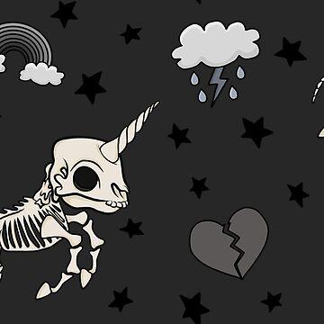 Skeleton Unicorn by GoodbyeDolly