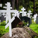 Quite graveyard with patriarchal crosses by AntSmith