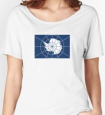 Flag of the Antarctic Treaty  Women's Relaxed Fit T-Shirt