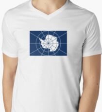 Flag of the Antarctic Treaty  Men's V-Neck T-Shirt