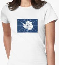 Flag of the Antarctic Treaty  Women's Fitted T-Shirt