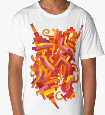 Pixelated Epiphany - Watercolor Painting Long T-Shirt