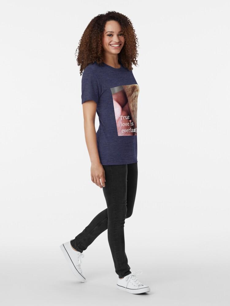 Alternate view of True love is everlasting. Tri-blend T-Shirt