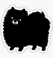 Schwarzer Pommern Sticker
