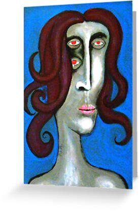 Unnatural Modificated woman by fulvio