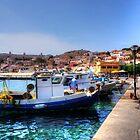 Fishing Boats of Halki by Tom Gomez